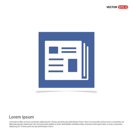 news icon - Blue photo Frame