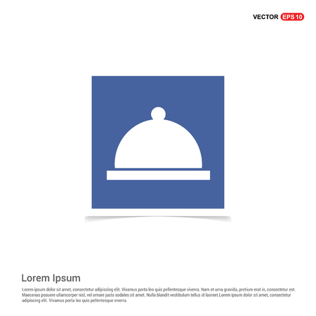 Cooking pot icon - Blue photo Frame