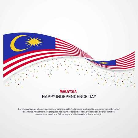 Fondo de feliz día de la independencia de Malasia