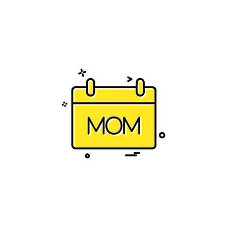 Mothers day calender icon design vector