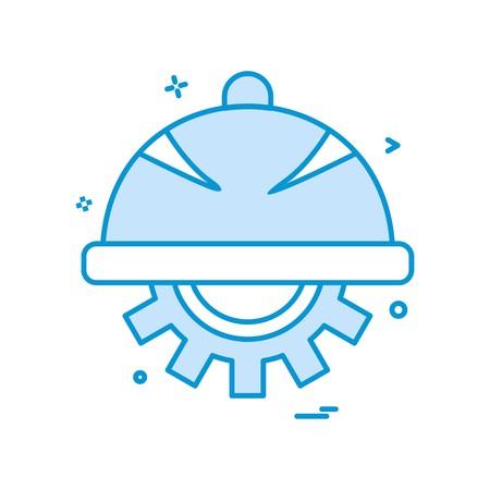 helmet gear icon vector design