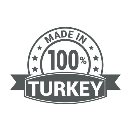 Turkey stamp design vector