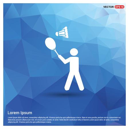 Bedminton Player Icon