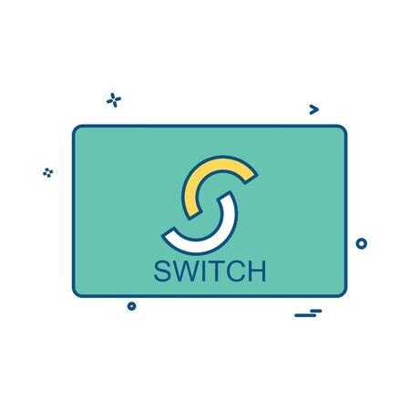 Switch card icon design vector