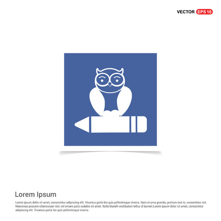 Owl Icon - Blue photo Frame Ilustração