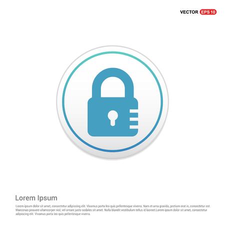 lock icon - white circle button