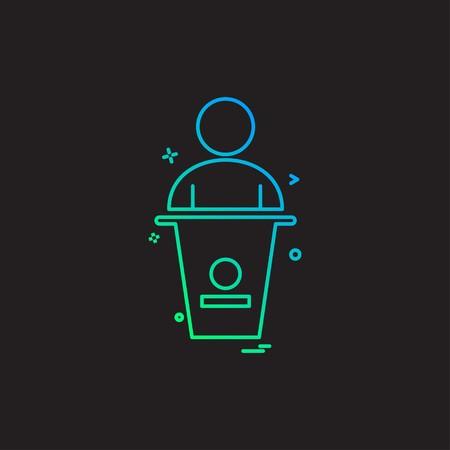 user law person case icon vector design