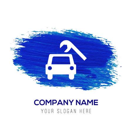 Repair Car Icon - Blue watercolor background Vettoriali
