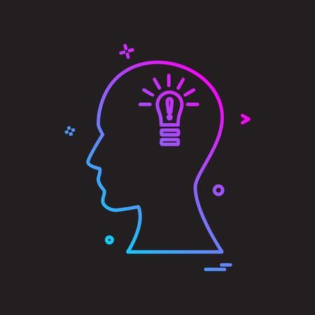 Brain icon design vector Ilustração