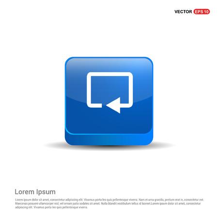 Web refresh icon - 3d Blue Button.