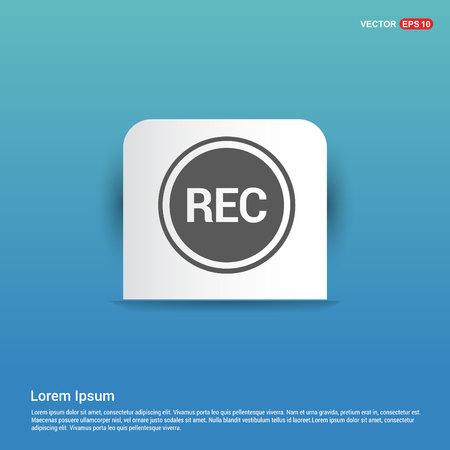Recording icon - Blue Sticker button