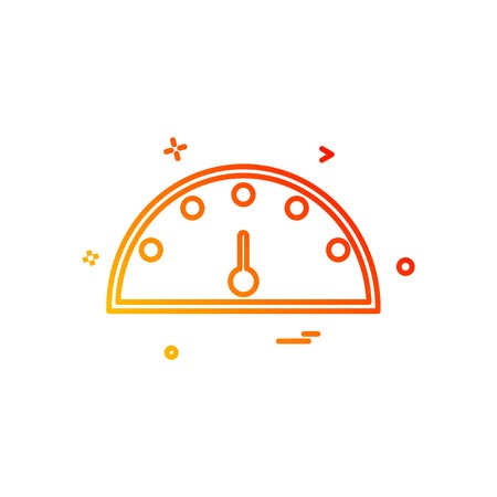 Meter icon design vector
