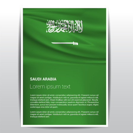 Saudia Arabia flags design vector Vektorgrafik
