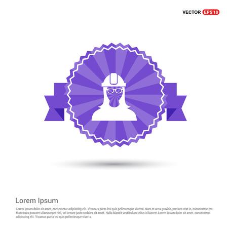 Engineer user Icon - Purple Ribbon banner