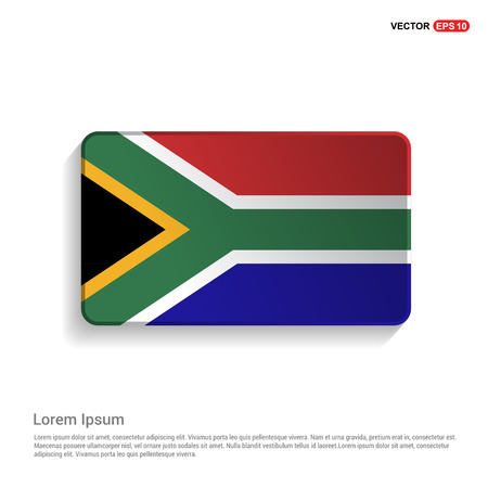 South Africa flag design vector