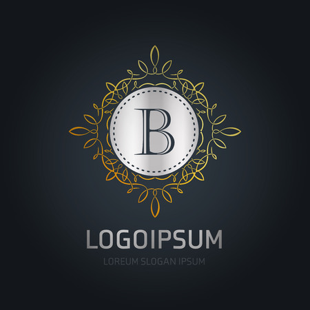 Alphabetic logo design with elegent design and typography vector