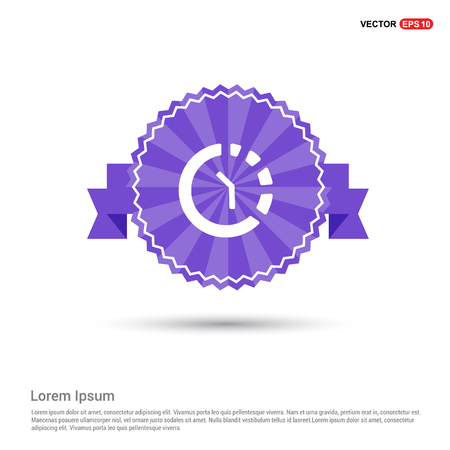 Repeat Time Icon - Purple Ribbon banner