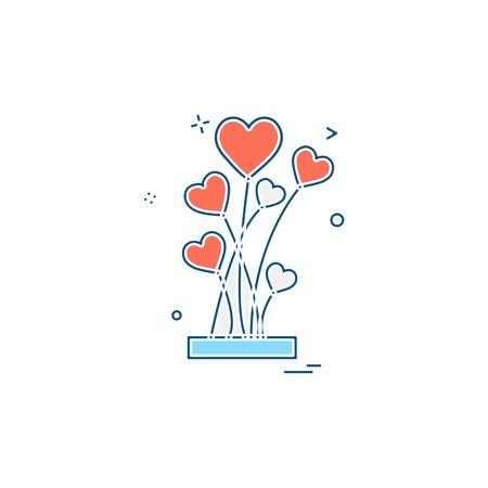Valentines day icon design vector Illustration