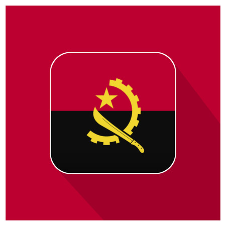 Angola flag design vector Иллюстрация