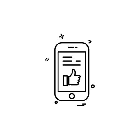 Smart phone icon design vector 向量圖像