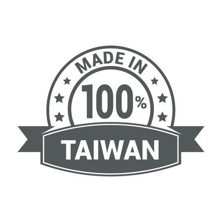 Taiwan stamp design vector
