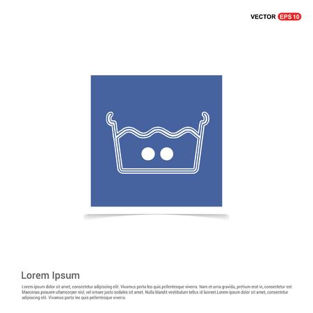 Laundry symbols icon - Blue photo Frame