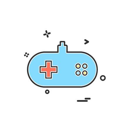 Game remote icon design vector Ilustração