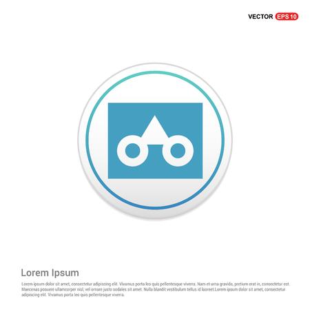 glasses frame icon - white circle button Illustration