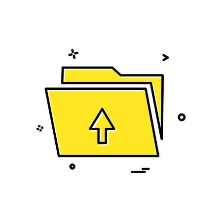 upload folder icon Vector Dersign