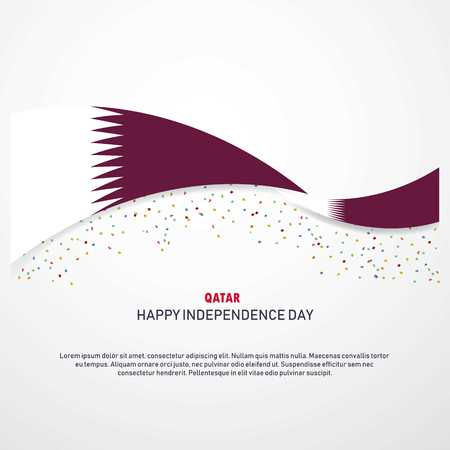 Qatar Happy independence day Background