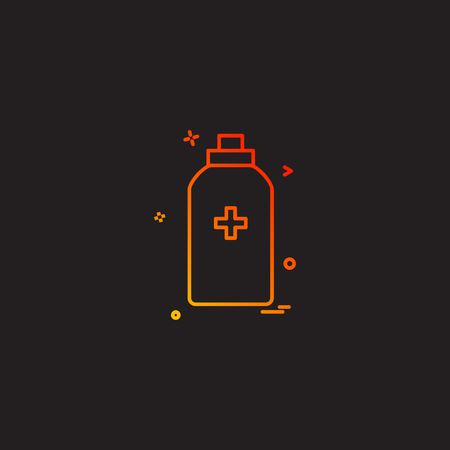 bottle tool first aid spary icon vector design Illustration
