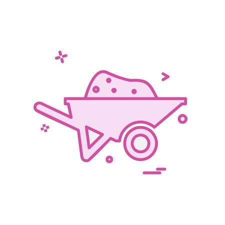 Trolley icon design vector