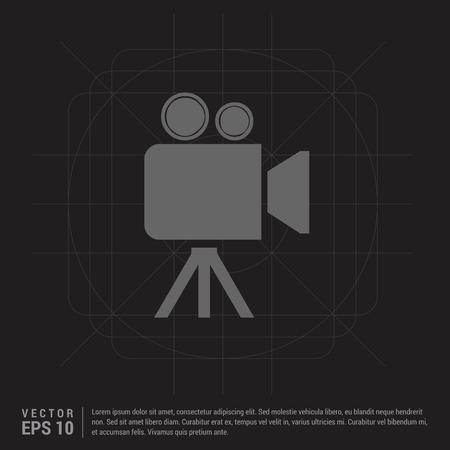Video camera icon Illustration