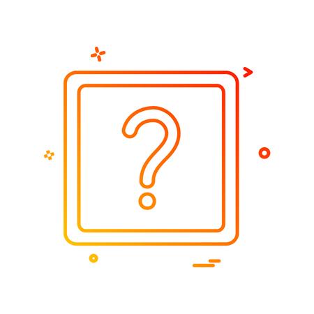 question mark ask icon vector design