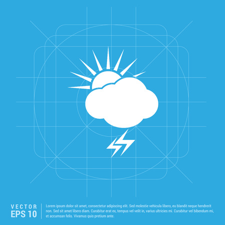 Sun Cloud Icon Ilustração