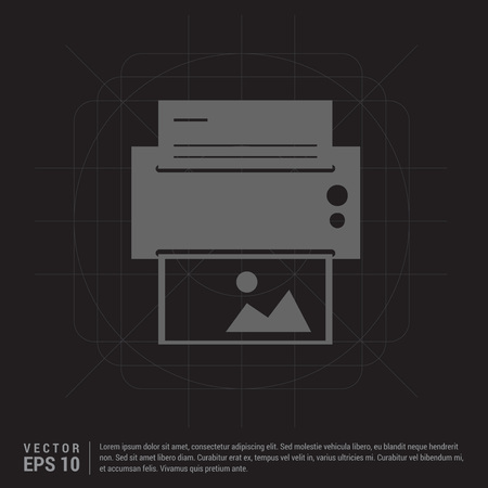 Printer icon Çizim