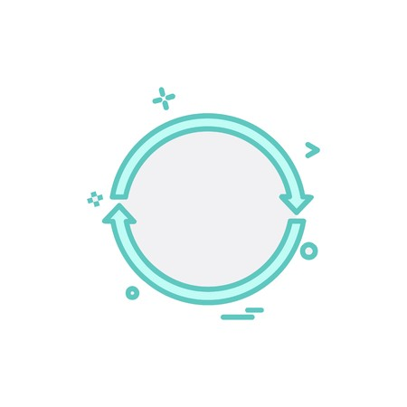 Reset icon design vector