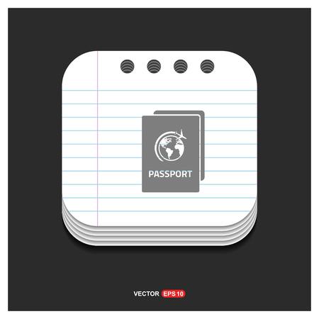 Passport Icon - Free vector icon
