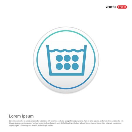 Laundry symbols icon - white circle button