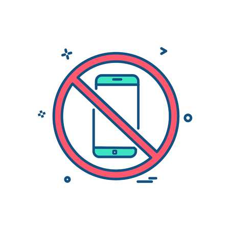 Phone not allowed icon design vector Illustration
