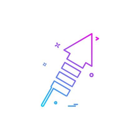 Rocket icon design vector
