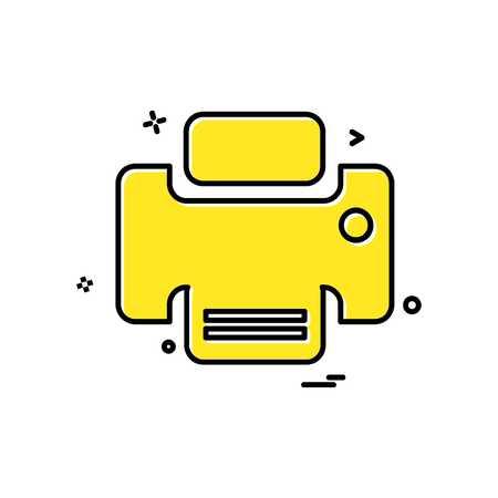 Printer icon design vector