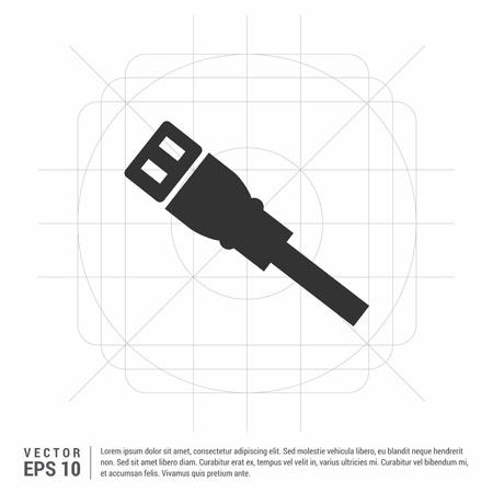 internet  Cable Icon Illustration
