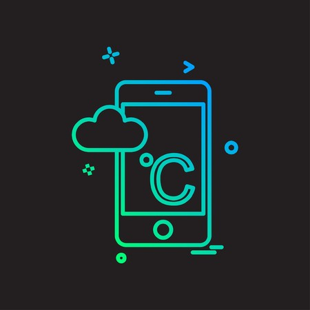 Cloudy weather icon design vector