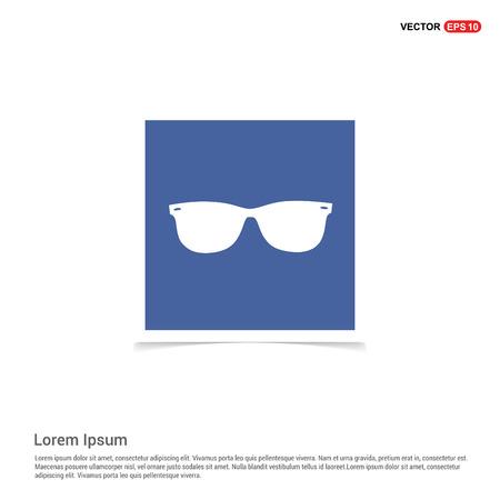 Goggle icon - Blue photo Frame