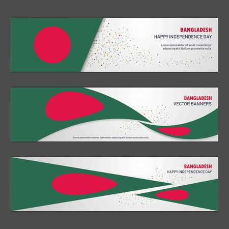 Bangladesh independence day abstract background design banner and flyer, postcard, landscape, celebration vector illustration Illustration