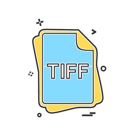 TIFF file type icon design vector Illustration
