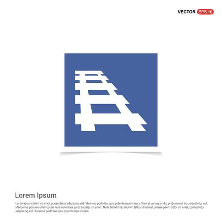 Railroad track icon - Blue photo Frame