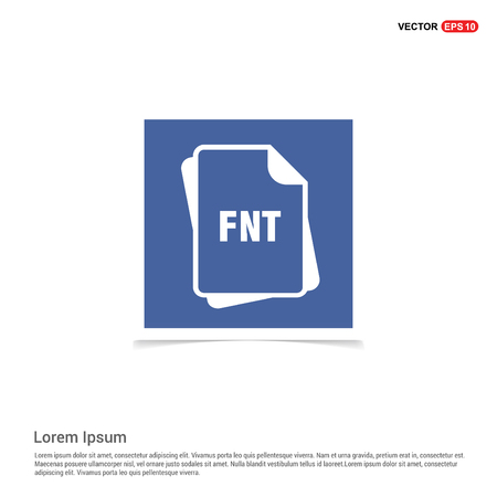 file format icon. - Blue photo Frame