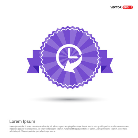 Cuckoo clock icon - Purple Ribbon banner